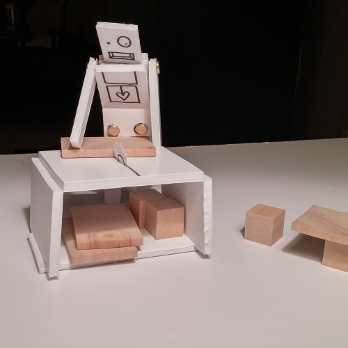 I'm slightly obsessed with furniture-making robot.